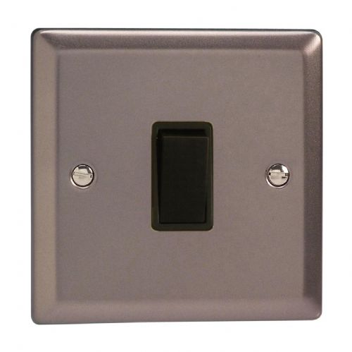 Varilight XR1B Classic Pewter 1 Gang 10A 1 or 2 Way Rocker Light Switch